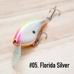 "BRISKY LURES  /  "" Natalie "" / #5. Florida Silver"