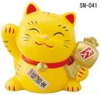 幸せ招き猫 とら 宝くじ入れ(中)