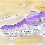 絵画 インテリア アートパネル 雑貨 壁掛け 置物 おしゃれ 風景画 アブストラクトアート ワニ ロココロ 画家 : YUTA SASAKI 作品 : ワニさん