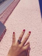 ribbon LOVE RING. SILVER925 #0131