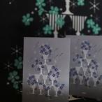 霧とリボン|菫グラスツリーのカードセット(7枚入)