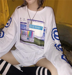 【tops】プリントカジュアルラウンドネックTシャツ26703627