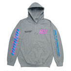 "SEASONING × GIONO HOODIE ""MOTORCYCLE"" - GRAY"