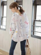 送料無料【La cherie】Graffti big shirt