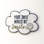 makes me smileワッペン