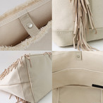 Side Fringe Tote Bag [small] /Ivory