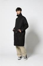 edit clothing Soutien collar coat / black