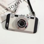 スマホケースカメラ型 iPhone7/7Plus・6/6s シルバー【GG08】