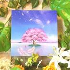 絵画 インテリア アートパネル 雑貨 壁掛け 置物 おしゃれ 桜 風 アクリル画 パステル画 水彩画 ロココロ 画家 : Satoko Rin 作品 : かぜの詩