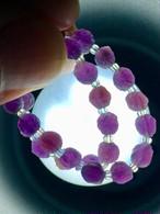 4) 紫ゴビアゲート「卑弥呼」ミニビーズ・ブレスレット