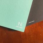 ノンブルノート「N」(06)ミントグリーン×チョコレート