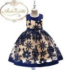 女の子 3色カラー ドレス 可愛い 綺麗 花柄 フォーマルドレス 発表会 演奏会 ピアノ