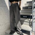 【送料無料】古着っぽ!ワイドレッグデニムパンツ♡パンツ デニム 落ち感 古着っぽ ワイド カジュアル 着回し