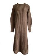 Wool long knit onepiece (moca )