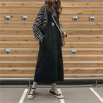 【配送優先】【dress】ロング丈合わせやすい韓国ファッション人気カジュアルワンピース15820170