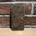 iPhone7 手帳型ケース ペイズリー MOKA