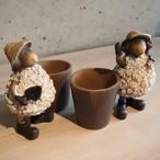 2匹の羊の ミニプランター 2個SET