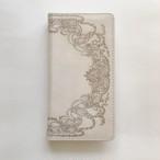【予約商品】アンティークベージュ 手帳型スマホケース