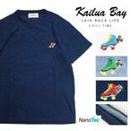Kailua Bay パグ × ローラースケート ワンポイント 刺繍 パイル Tシャツ 半袖 タオル地 スケートボード 犬 スケーター【ゆうパケット1点まで送料250円】