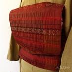 正絹 深い深い赤の袋帯