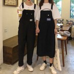 【送料無料】 選べる2タイプ デニム サロペット オーバーオール ジャンパースカート ゆるカジ 双子コーデ カジュアル ガーリー