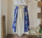 【マーメイドスカート】hanabi/ブルー/original textile