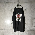 [used] dead stock black T-shirt