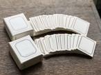 【活版印刷】 FRAME mini card box ブラック / ブロンズ(6種5枚ずつ 30枚入り)