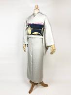 「Plain Dot Kimono」ポリエステル水玉地紋無地 アイボリー