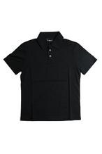 《Made in France》オリジナル 半袖 ジャージポロシャツ 3つ釦 〈ブラック〉