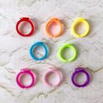 デコ土台付き/プラスチック/指輪パーツ/同色4個