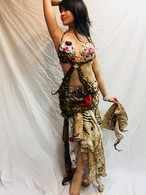エジプト製 ベリーダンス 衣装 豹A