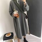【dress】ニットワンピースゆったり感シンプル合わせやすいレディースワンピース