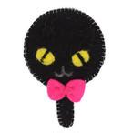 【クロネコ】ふんわりミラー【黒猫 猫柄 803-013】