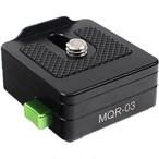 Lanparte社・ MQR-03・ モニタークイックリリースアダプター(底部フラット型)
