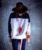 EFFECTEN/エフェクテン mohair knit Transfer sweat