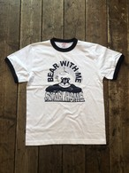 Stay Home S/S Ringer Tee Shirt, Bear With Me 送料無料
