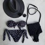 dot bikini/black