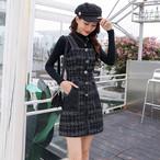 【set】ファッション無地セーター+ワンピースセットアップ25433837