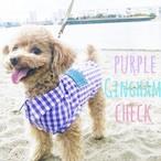 ギンガムチェックシャツ✖️トイプードル Purple