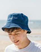 ThreeArrows 刺繍 Bucket Hat (indigo)