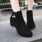 【shoes】スエード素敵見えビーズ飾り大人気ブーティー 23035399