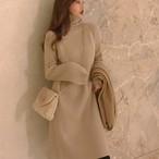 【dress】ニットワンピース定番シンプル着回せるハイネックワンピース