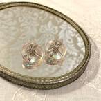 チェコ ガラスボタンのイヤリング とんぼ