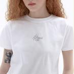 「STD1」クロップドTシャツ(ホワイト)