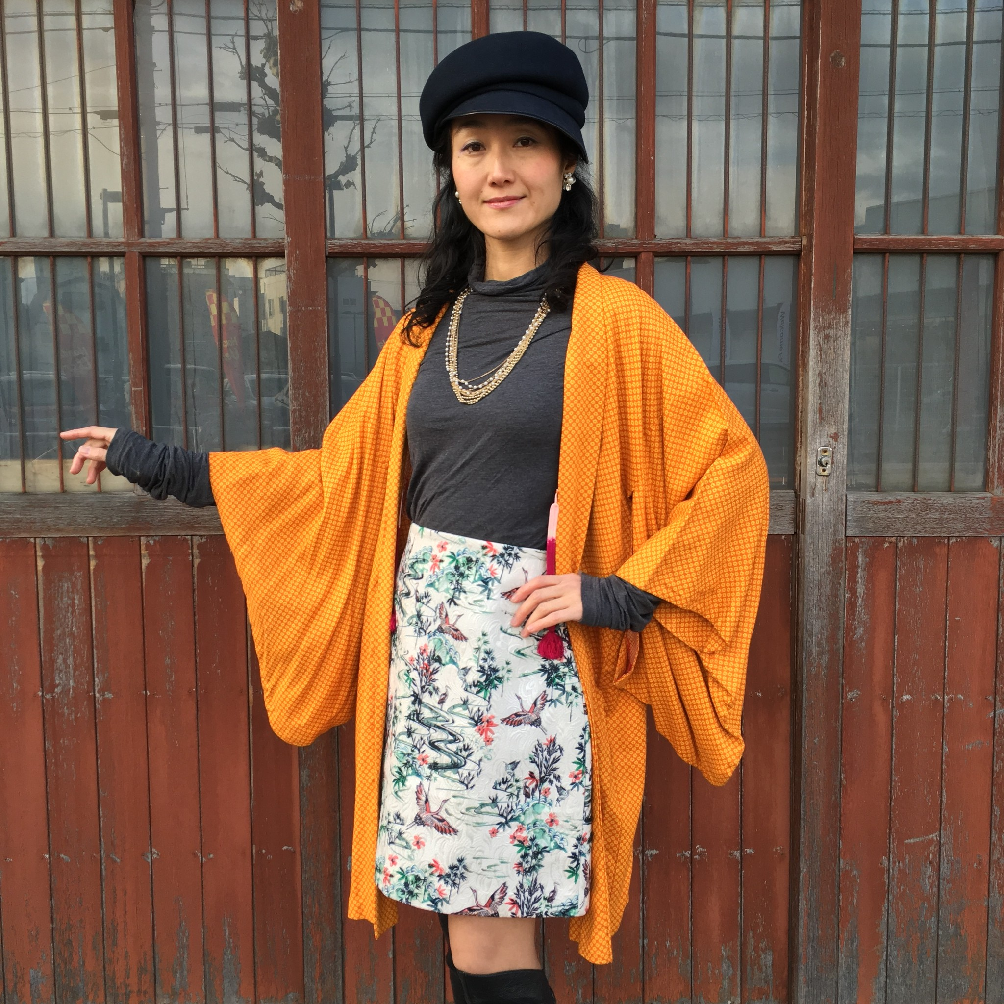 ◆ビタミンカラー羽織でシンプルなスタイルを元気に!!!◆
