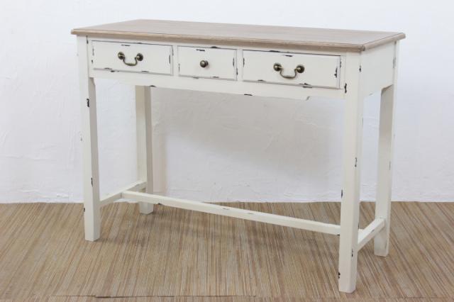 《シャビーシック アンティークスタイル家具》奥行が33cmとスリム設計なのでドレッサーとしても便利