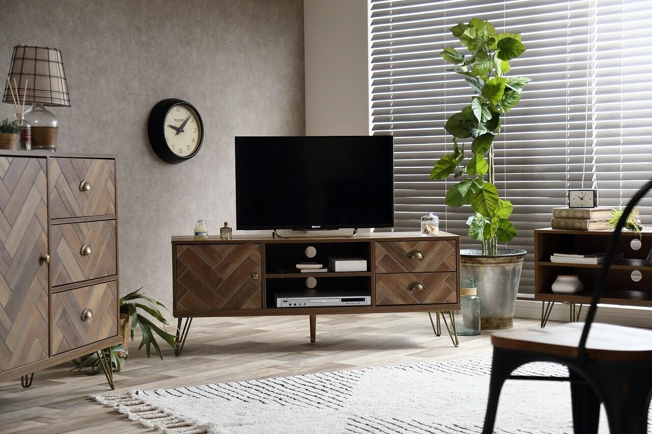 《西海岸スタイル家具通販》天然素材の風合いが心地よいデザインで西海岸を思わせるラナ テレビボード
