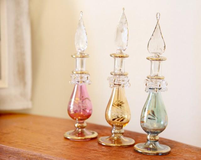 『エジプト切子香水ボトル』3色入荷しました