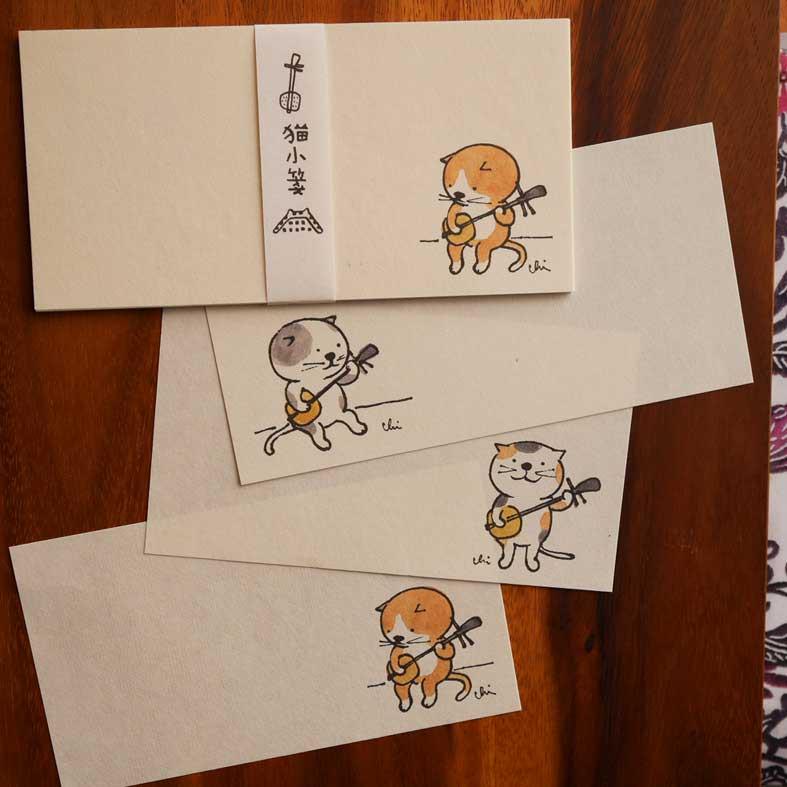 土佐和紙製一筆箋「猫小箋(まやぐゎーせん)」